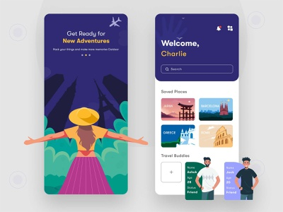 Travel App Design mockups wireframes design design ui design wireframes app design ui ux design travel app design