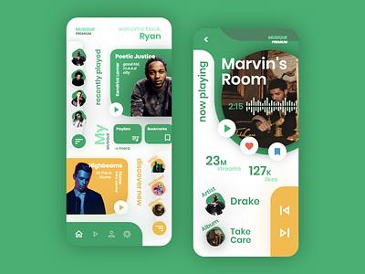 Music App Design wireframes ui ux design ui design app design wireframes design mockups design music app design