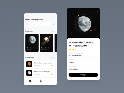 Space App Design mockups design wireframes design ui design wireframes mockups app design space app ui design space app design
