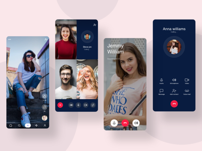 Video Call App Design ui ux design mockups design wireframes design ui design wireframes mockups app design