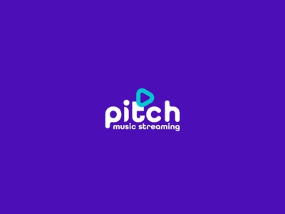 Pitch logo typography logodesign graphic design
