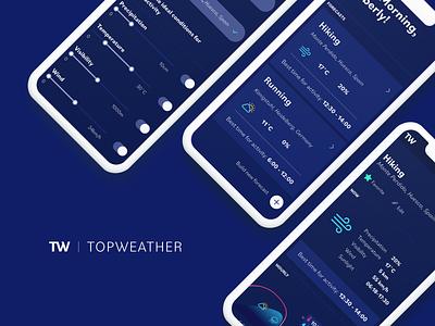 TopWeather app website app branding design minimal ux web logo ui