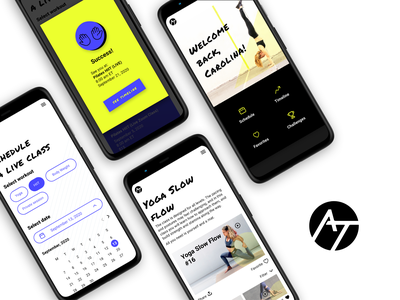 Action Team Fitness webapp design ui fitness app app web branding minimal logo
