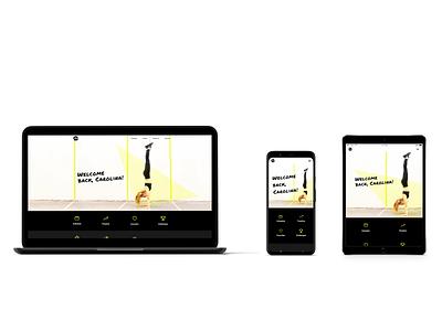 Action Team Fitness webapp website branding fitness app web app ui minimal