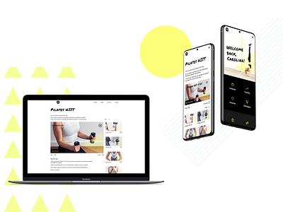 Action Team Fitness web app website minimal branding sports fitness app design web ui