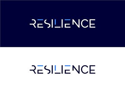 Resilience web app logo typography design minimal logo