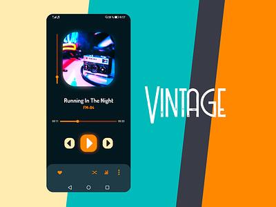 """Tema """"Retro Vintage 80s"""" aplication uiux app ui uidesign interfacedesign design concept appmusic android app"""