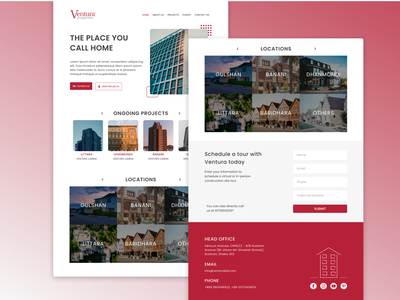Landing page of a Real Estate company (dummy project) realestate homepagedesign homepage ui landingpagedesign landing landingpages typography website web clean minimal ux ui figmadesign design
