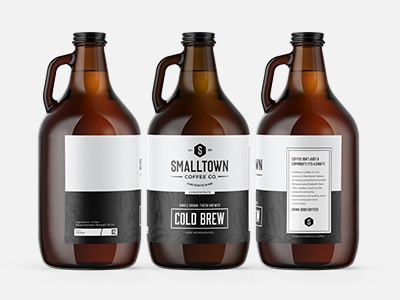 Smalltown Coffee Co. Cold Brew Growler Design