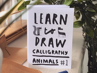 Zine time design art guide drawing animals calligraphy