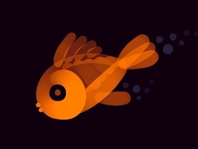 Neon Goldfish design illustration drawing procreate orange nature sea fish