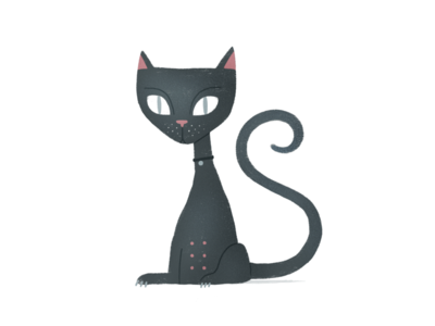 Cat of the day illustration kitten animal drawing design cute cat