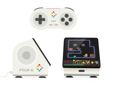 Pico-8 console controller gaming console design product product design pico8