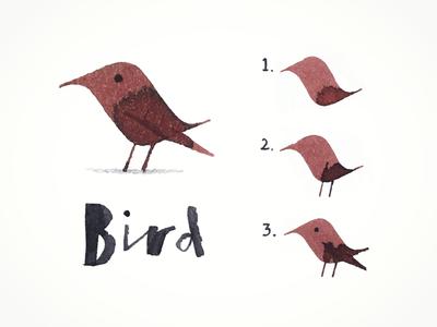 Calligraphy Bird guide drawing art pen ink bird calligraphy