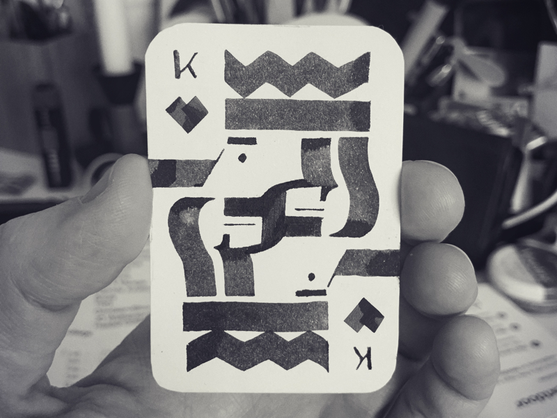King of Hearts art calligraphy design king