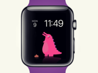 Digital pet for Apple Watch character design apple watch cute creature watch apple
