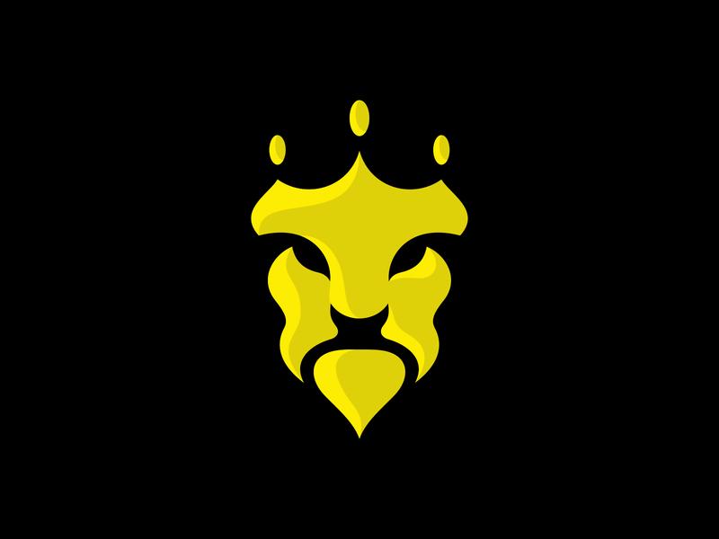 Lion Crown mark illustration animal illustration animal logo animal for sale mistershot logodesign logo logomark crown logo lion logo lion head face beast manlike golden crown king lion