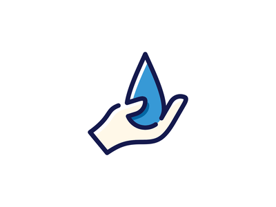 Hand Drop monoline oneline minimal minimalist logo mistershot waterdrop droplet logo design water icondesign graphicdesign logomark mark symbol icon logodesign logos logo hand drop