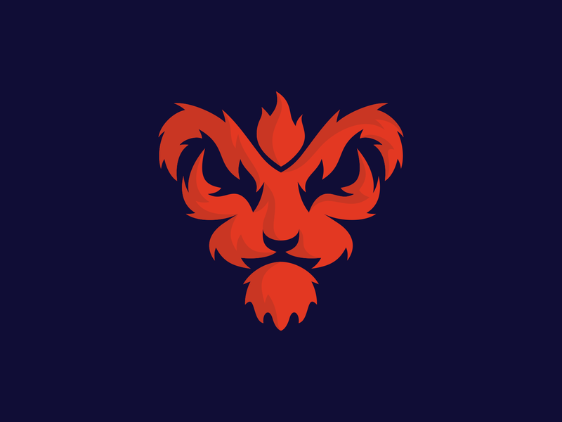 Fire Lion illustration animal logo animal character mascot design mascot icon symbol logomark mark logo design logodesign logo red flame fire lion king lion head lion lion logo