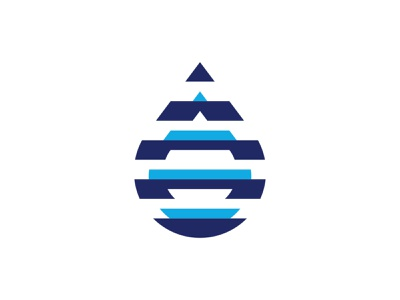 Droplet Negative Space negativespacelogo negative-space negativespace negative space logo lines droplets water drop waterdrop drop droplet modernism logomark negative space design minimal mistershot icon symbol mark logo