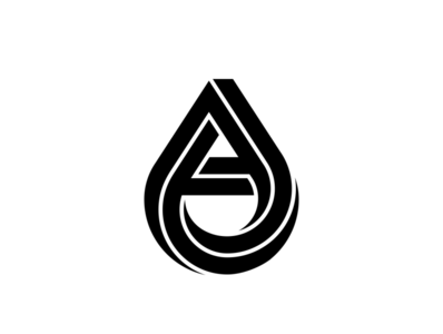 Impossible Drop - Letter A impossible impossible object impossible shape lettermark monogram design monogram logo logomark negative space design monogram mistershot icon symbol mark logo