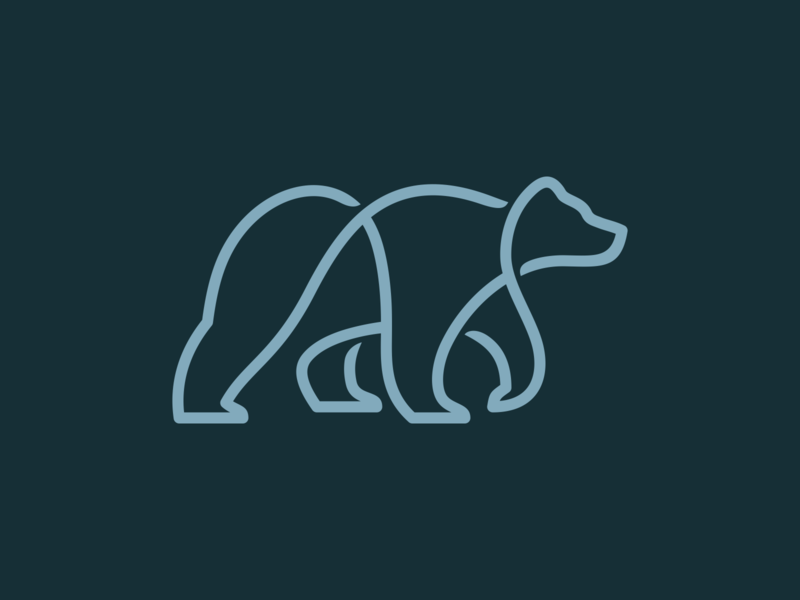 One-Line Bear Logo Design one-line monoline logo monoline one line logofolio logomark logodesign animals animal logo bear logo bear lines design minimal animal mistershot icon symbol mark logo