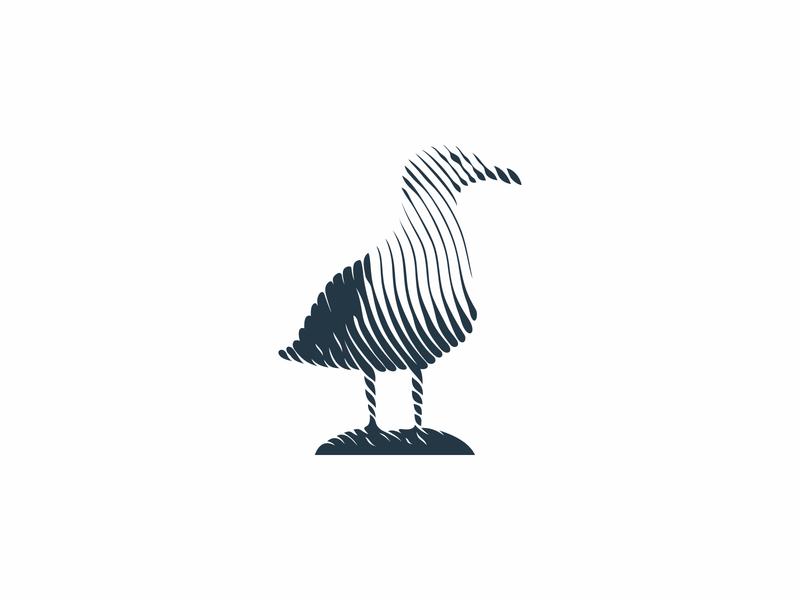 Seagull Lines logo design graphic design graphicdesign modernist modernism shadows linestyle lines pigeon seagull bird logomark design minimal animal mistershot icon symbol mark logo