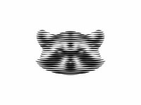 Racoon Lines racoon raccoon modernism shadows line art linework design mark icon symbol logomark animal mistershot lineart linestyle lines logo design logos logo logodesign