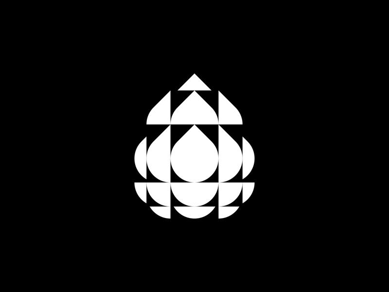 Droplet identity design logo design geometrical geometic water cbd cbd oil droplet waterdrop drop logodesign modernism logomark design minimal mistershot icon symbol mark logo