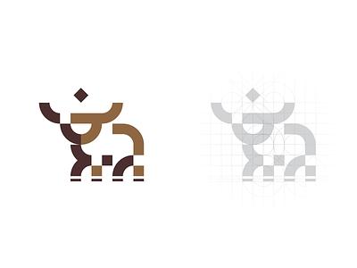 Bull Star logo construction designer logodesign logo construction logo process logoprocess gridding grid design grid layout grid grid logo design minimal mistershot icon symbol mark logo bulls animal bull