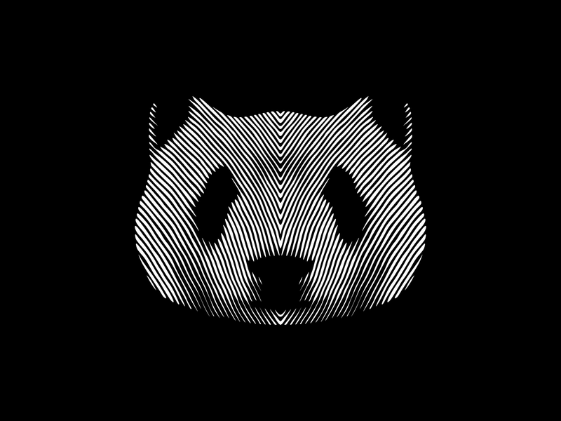 Panda Bear Lines vector illustration panda panda logo panda bear bear logo animal logo brand lineart optical illusion mistershot lines logomark design icon symbol mark logo animal bear