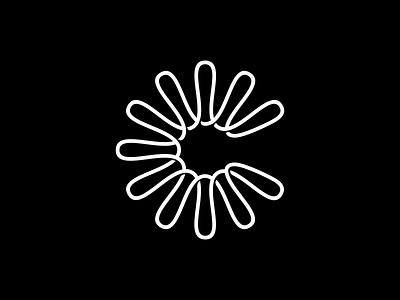 C lettermark dna virus minimalism lineart line infinity loop monogram logo design minimal modernism spiral lettermark logo lettermark letter c monogram logomark symbol logo
