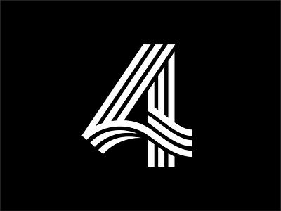 4 number digit typedesign design typography type lettermark lettering letters numeric numeral number 4 numbers monogram mistershot icon symbol mark logo
