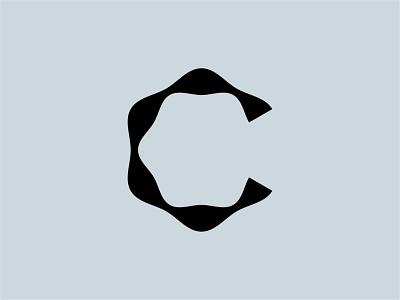 C Lettermark monogram logo spiral medical lettermark typography type lettering letter double helix helix dna c monogram logomark mistershot icon symbol mark logo