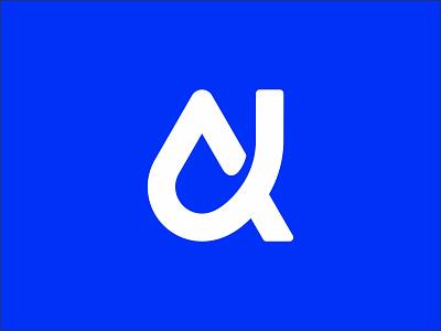 Letter A - Drop initials logo lettermark type waterdrop water droplet drop flat design modernism logodesign icon design logomark a monogram minimal mistershot symbol mark logo