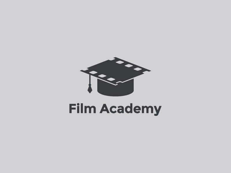Film Academy logo mark symbol film graduate hat college film school mistershot