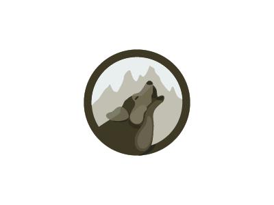 Howling wolf howling wolf animal icon symbol mark logo
