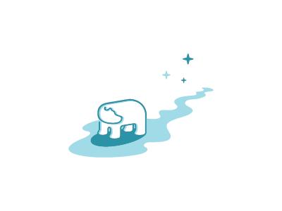 Polaris melting north star pole star polar bear ice north polaris star bear animal mark logo