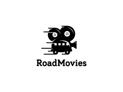 Road Movies movies road movies lens reel film video van car symbol icon mark logo