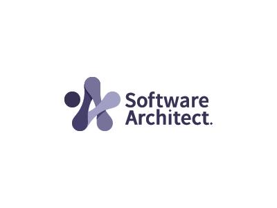 Software Architect app coding programmer code software tech link star mark logo