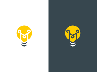 M light bulb mind concept idea monogram m bulb lightbulb