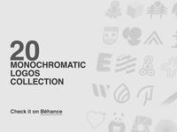 20 Monochromatic Logos Collection
