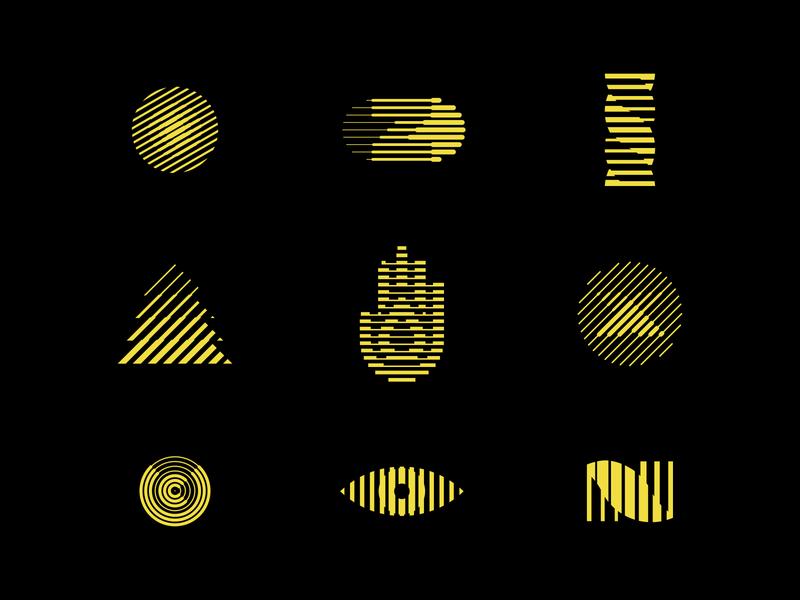 Tricking The Eye symbol mark logo design retro optical illusion logomark lines behance minimal modernism illusion logos