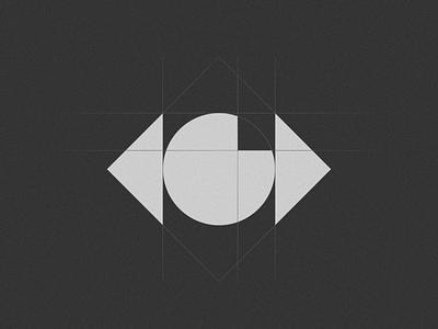 Eye 06 gridlogo logogrid grids grid eyes eye minimal mistershot icon symbol mark logo