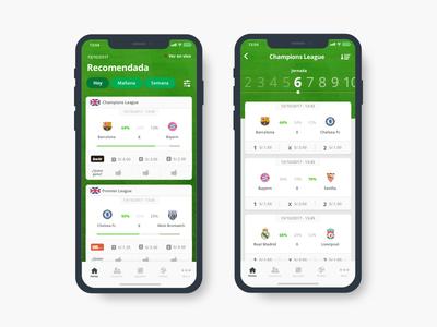 Pronosticos Deportivos App peru lima ux bet green x iphone soccer tabs ui app football