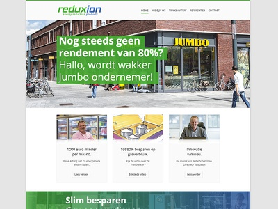 Website: Reduxion Homepage website design