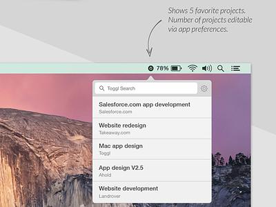 Toggl  Mac OS X Re-design app