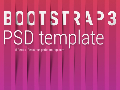 Bootstrap 3 PSD template psd free template bootstrap