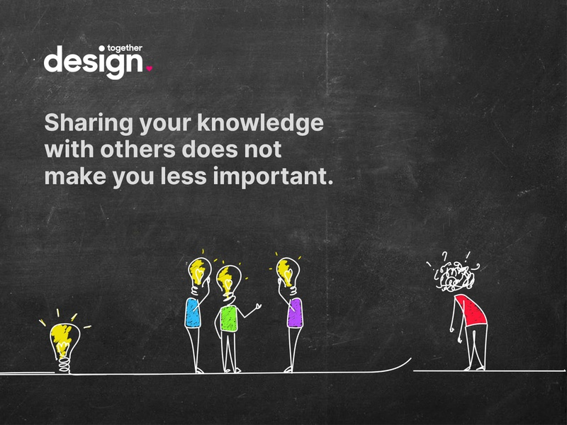 Illustration for Design Together logo stick figure concept idea knowledge illustration