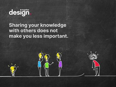 Illustration for Design Together logo stick figure concept idea knowledge illustration